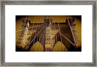 Brooklyn Bridge Framed Print by Monique Wegmueller
