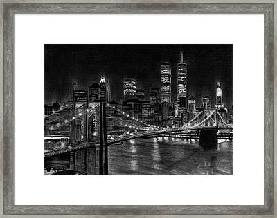 Brooklyn Bridge New York Framed Print