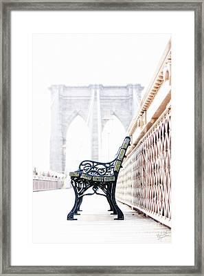 Brooklyn Bridge Framed Print by Nishanth Gopinathan