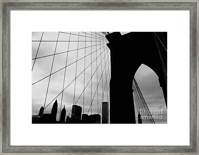 Brooklyn Bridge No.2 Framed Print