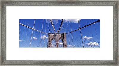 Brooklyn Bridge, Nyc, New York City Framed Print by Panoramic Images