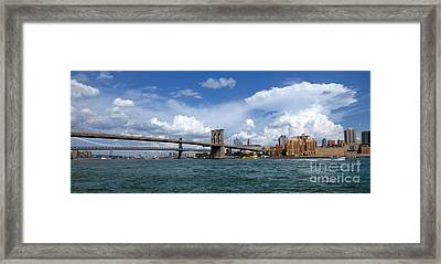Brooklyn Bridge Panorama Framed Print by Amy Cicconi