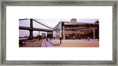 Brooklyn Bridge Park, Janes Carousel Framed Print by Panoramic Images
