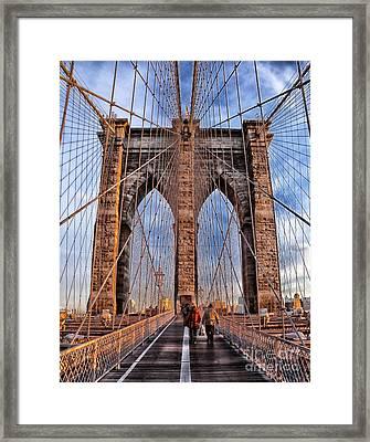 Framed Print featuring the photograph Brooklyn Bridge by Paul Fearn