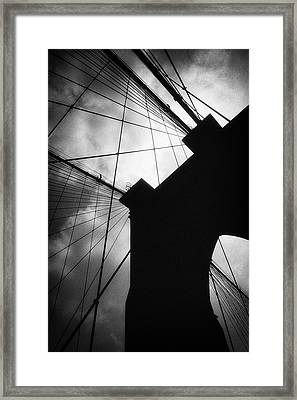 Brooklyn Bridge Silhouette Framed Print