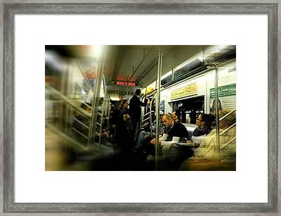 Subway To Brooklyn Framed Print