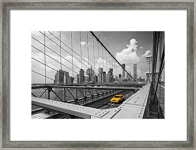 Brooklyn Bridge View Nyc Framed Print