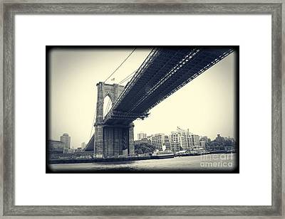 Brooklyn Bridge1 Framed Print by Paul Cammarata