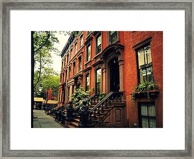 Brooklyn Brownstone - New York City Framed Print by Vivienne Gucwa