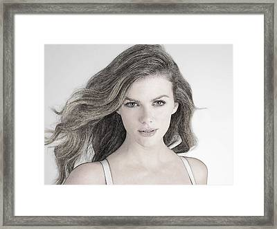 Brooklyn Decker Framed Print