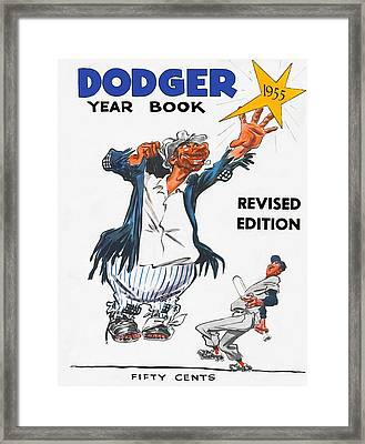 Brooklyn Dodgers 1955 Yearbook Framed Print by Big 88 Artworks