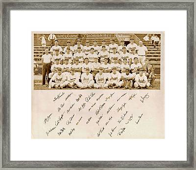 Brooklyn Dodgers Baseball Team Framed Print