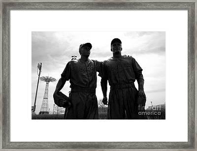 Brooklyn Dodgers Statue - Baseball Framed Print by Susan Carella
