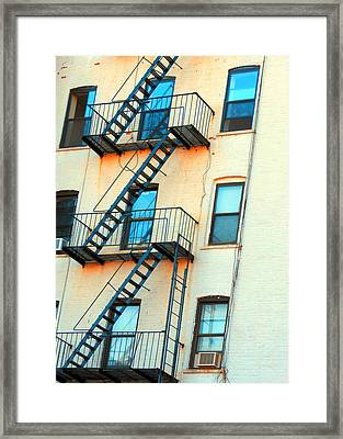 Brooklyn Fire Escape Framed Print by Jon Woodhams