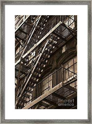 Brooklyn Fire Escapes Framed Print by Diane Diederich