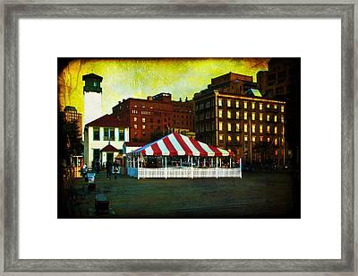 Brooklyn - Fulton Ferry Landing Framed Print