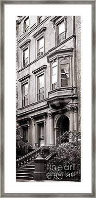 Brooklyn Heights -  N Y C - Classic Building And Bike Framed Print