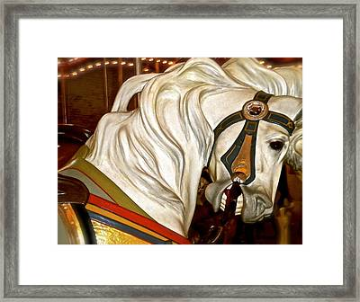 Brooklyn Hobby Horse Framed Print by Joan Reese