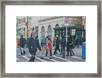 Brooklyn Intersection Framed Print