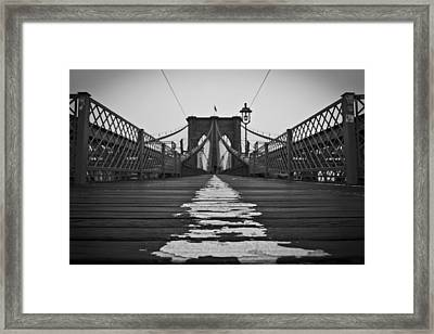 Brooklyn Lines Framed Print by Michael Murphy