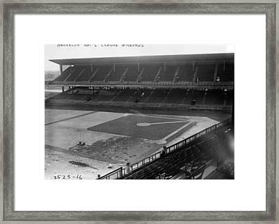 Brooklyn National Grounds Stadium Dodgers  Framed Print