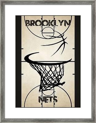 Brooklyn Nets Court Framed Print by Joe Hamilton