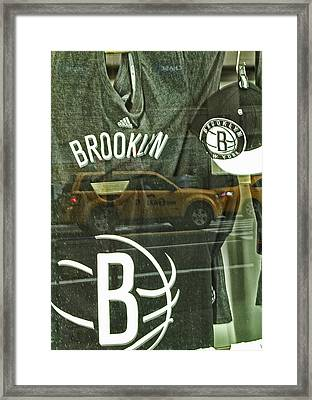 Brooklyn Nets Framed Print by Karol Livote