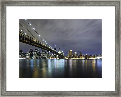 Framed Print featuring the photograph Brooklyn Nights by Anthony Fields