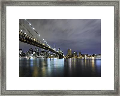 Brooklyn Nights Framed Print