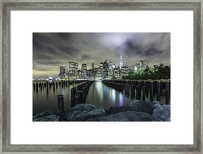 Framed Print featuring the photograph Brooklyn On The Rocks  by Anthony Fields