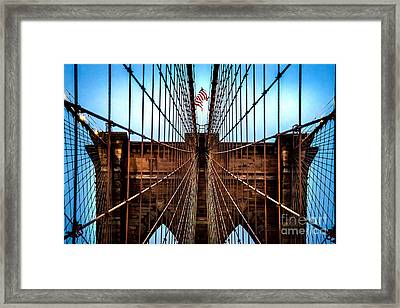Brooklyn Perspective Framed Print by Az Jackson