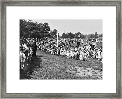 Brooklyn Sunday School Parade Framed Print by Underwood Archives