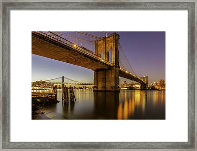Framed Print featuring the photograph Brooklyn Sunrise by Anthony Fields