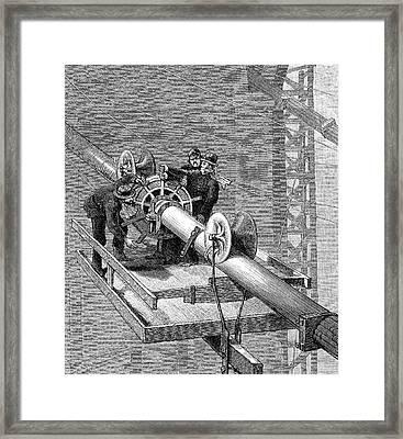 Brooklyn Suspension Bridge Framed Print by Universal History Archive/uig