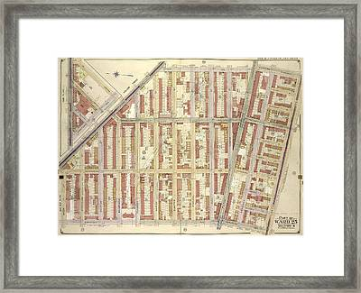 Brooklyn, Vol. 2, Double Page Plate No. 19 Part Of Ward 25 Framed Print