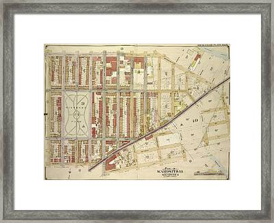 Brooklyn, Vol. 3, Double Page Plate No. 16 Part Of Ward 17 Framed Print