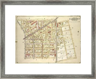 Brooklyn, Vol. 3, Double Page Plate No. 17 Part Of Wards 15 Framed Print