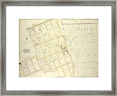 Brooklyn, Vol. 4, Double Page Plate No. 21 Part Of Ward 26 Framed Print