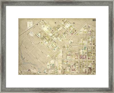 Brooklyn, Vol. 4, Double Page Plate No. 80 Map Bounded Framed Print by Litz Collection