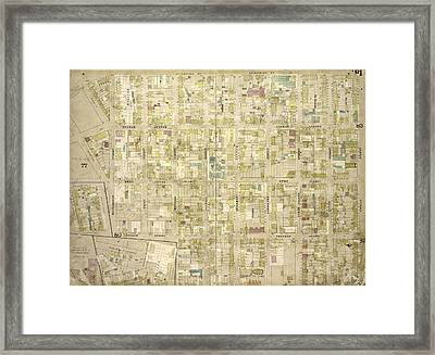 Brooklyn, Vol. 4, Double Page Plate No. 81 Map Bounded Framed Print by Litz Collection