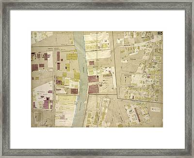 Brooklyn, Vol. 4, Double Page Plate No. 85 Map Bounded Framed Print