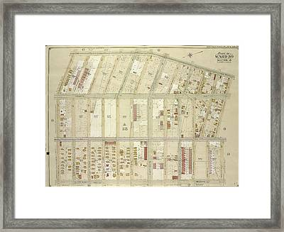 Brooklyn, Vol. 6, Double Page Plate No. 26 Part Of Ward 30 Framed Print by Litz Collection