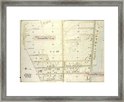Brooklyn, Vol. 7, Double Page Plate No. 39 Part Of Ward 31 Framed Print
