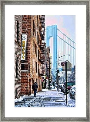 Brooklyn Walk Framed Print