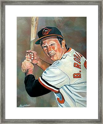Brooks Robinson Framed Print by Michael  Pattison