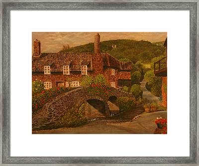 Framed Print featuring the painting Brookstone Inn by Rick Fitzsimons