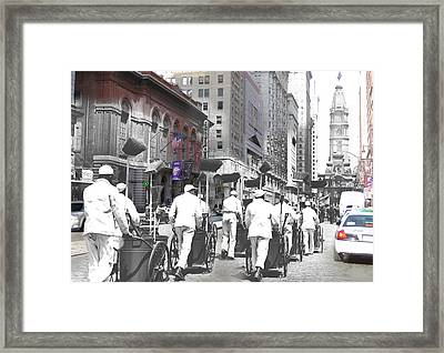 Broom Brigade Framed Print