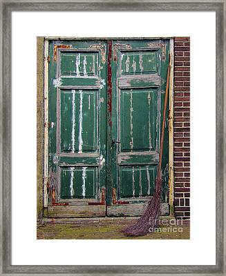 Broom Door Framed Print