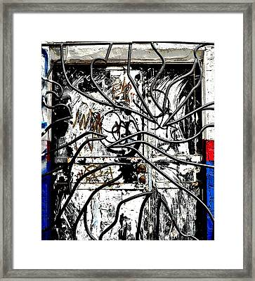 Broome Street Found Art Nyc Framed Print