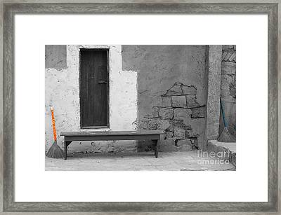 Broomsticks In Color Framed Print by Micah May